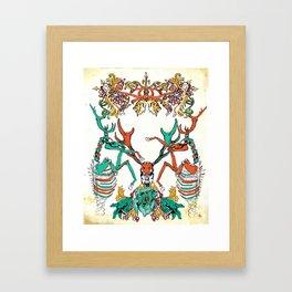 Deer and Deathbells  Framed Art Print