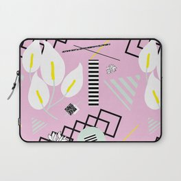 80's Calla Lily Floral Laptop Sleeve