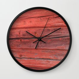 Weathered  colorful timber texture close front view Wall Clock