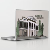 haunted mansion Laptop & iPad Skins featuring new Orleans square.. haunted mansion by studiomarshallarts