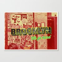 brooklyn Canvas Prints featuring Brooklyn by nicole martinez