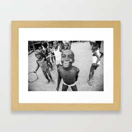 Niños Chocoanos Framed Art Print