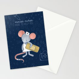 Mouse Nurse Here to Help You Stationery Cards