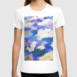 Gold Ocean Abstract Modern Design T-shirt