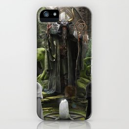 V. The Hierophant Tarot Card Illustration (Color) iPhone Case