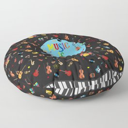 Music is my life Floor Pillow