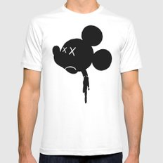 Mickey is Dead No.3 Mens Fitted Tee White SMALL