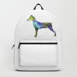 German Pinscher 01 in watercolor Backpack