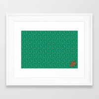 animal crossing Framed Art Prints featuring Animal Crossing Summer Grass by Rebekhaart