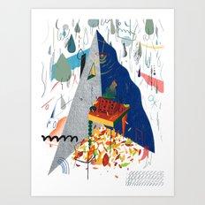Writer's Corner in Autumn Art Print
