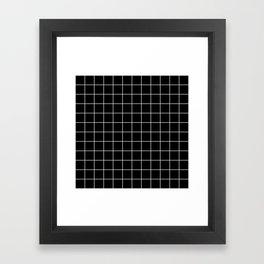 Grid Simple Line Black Minimalist Framed Art Print