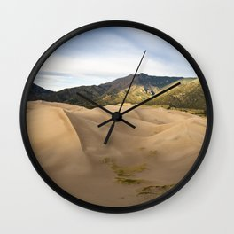 Great Sand Dunes Framed by the Sangre de Cristo Mountains Wall Clock