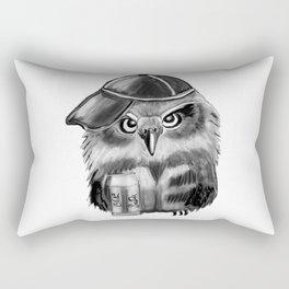 owl with soda and cap Rectangular Pillow