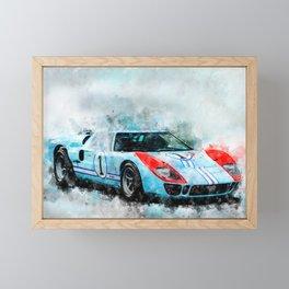 1966 GT40 Framed Mini Art Print