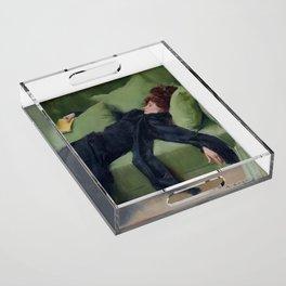 A DECADENT GIRL - RAMON CASAS Acrylic Tray
