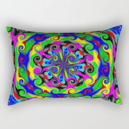 Sea of Acidic Psychedelic Anya Rectangular Pillow