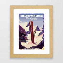Grand Targhee, Alta, Wyoming ski poster Framed Art Print