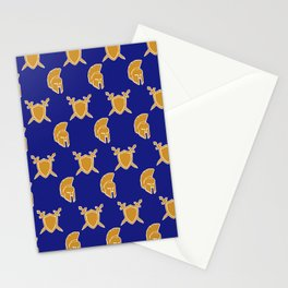 Blue and Gold Warrior Print Stationery Cards