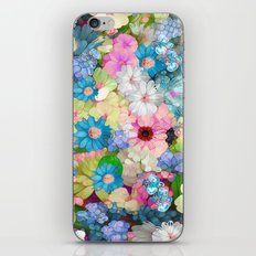 Pastels & Blue Bouquet iPhone & iPod Skin