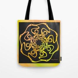 Hope Flower Mandala - Gold Black Dynamic Tote Bag