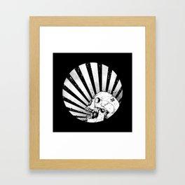 Kamikaze Skull Framed Art Print