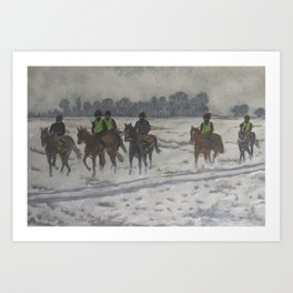 A foggy exercise Art Print