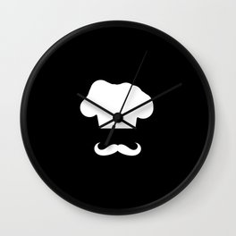 Chef Hat & Mustache Wall Clock