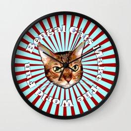 Bengal Cats Make The World Fun Wall Clock