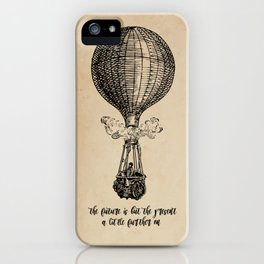 Jules Verne - The future is but the present iPhone Case