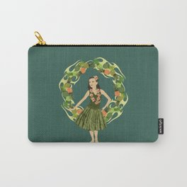 Hula Pineapple Wreath Carry-All Pouch