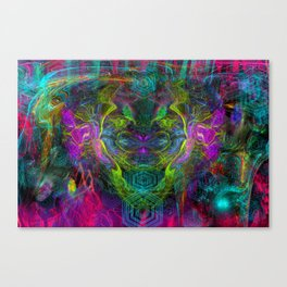 Rocket Man (abstract, psychedelic) Canvas Print