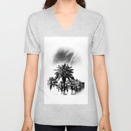 Palms Trees in Downtown  Unisex V-Neck