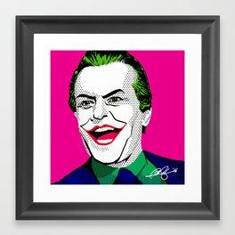 Pop Joker: Nicholson Framed Art Print