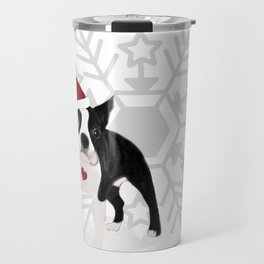 boston terrier xmas Travel Mug