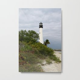 Bill Baggs - Cape Florida Light Metal Print