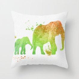Elephants 020 Throw Pillow