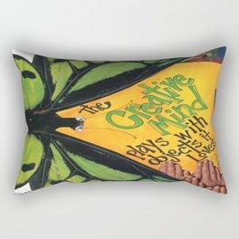 Butterfly-   The Creative Mind Rectangular Pillow