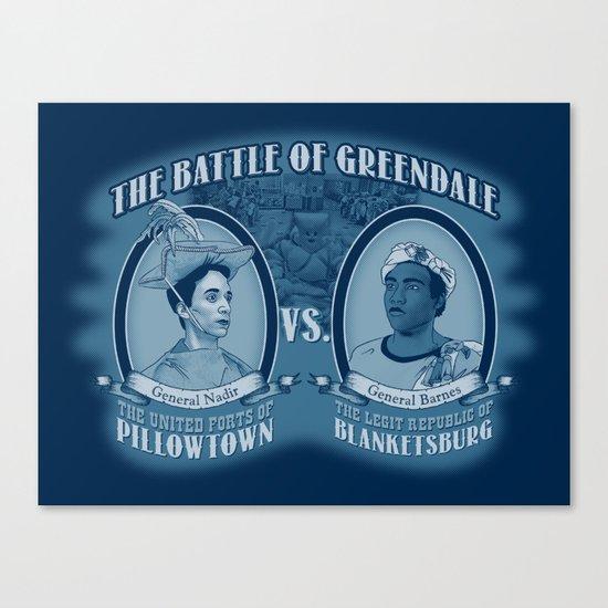Pillowtown vs Blanketsburg Canvas Print