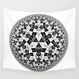 Escher Circle of Creatures Wall Tapestry