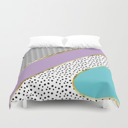 Happy Abstract | purple/cyan Duvet Cover
