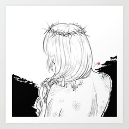 Inktober 2018: Prickly Art Print