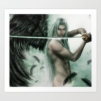 general Art Prints featuring General Sephiroth by K.Koji