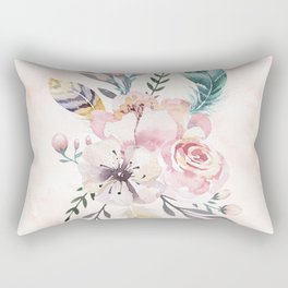 Forest Floral Pink by Nature Magick Rectangular Pillow