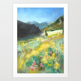 #9-Montana Mountain Meadow Art Print