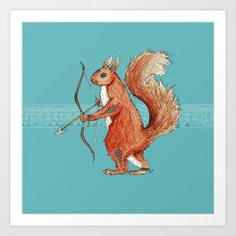 Drey, the Fire Squirrel Art Print