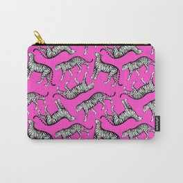Tigers (Magenta and White) Carry-All Pouch
