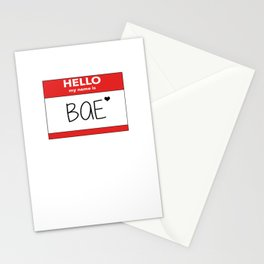 Hello My Name is Bae Stationery Cards