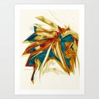 native american Art Prints featuring Native American by Jo Tan