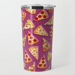 Purple cute pizza slice pattern Travel Mug
