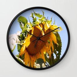 Bursting Sunflower Wall Clock